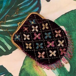 Vintage Beaded Velvet Evening Bag